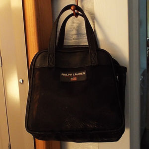 bffda57671 Ralph Lauren Polo Sport Black Mesh Make-up bag